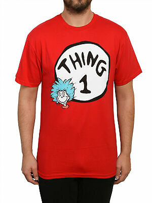 Men's Dr. Suess The Cat in the Hat Thing 1 Red T-Shirt