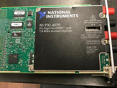 National Instruments NI PXI-4070 6½-Digit FlexDMM