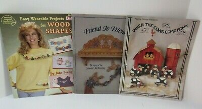 3  Decorative Tole Painting on Wood Craft Instruction Booklets & Patterns ~ VTG