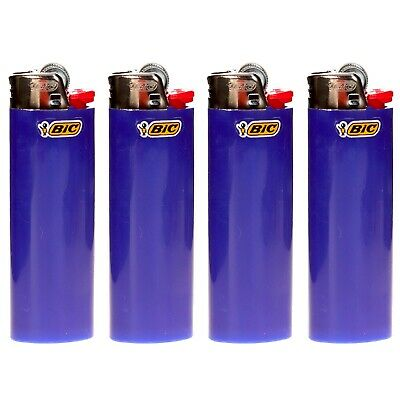 "4 x BIC Maxi Lighter ""BLUE"", New w/ Butane, Same Day Express Shipping"