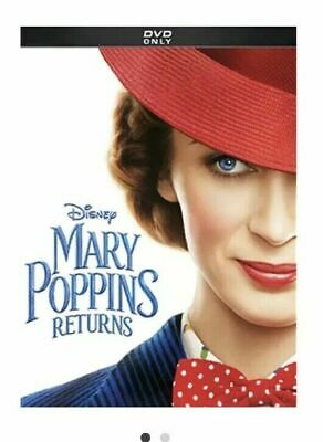"MARY POPPINS RETURNS (DVD, 2019) ""A Sequel Worthy Of The Name"" Free Shipping"