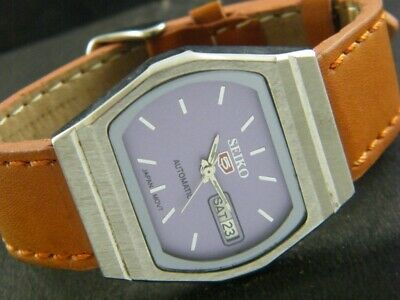 VINTAGE SEIKO 5 AUTOMATIC JAPAN MEN'S DAY/DATE WATCH 1072-a103222-9