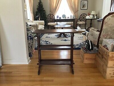 Antique Roycroft Arts & Crafts BookStand Table Marked Roycrofters East Aurora NY