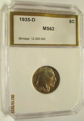 1935 D Buffalo / Indian Head nickel in Mint State Uncirculated Condition
