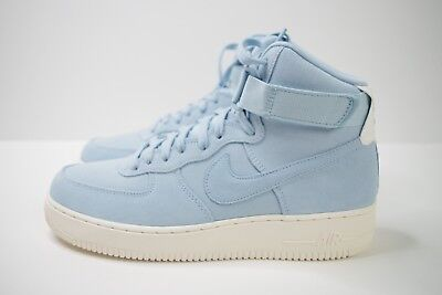 size 40 4e2c8 632f6 NIKE AIR FORCE 1 High '07 Suede Blue Size Uk 7.5 Us 8.5 Eur 42 Aq8649 400  Af1 Hi