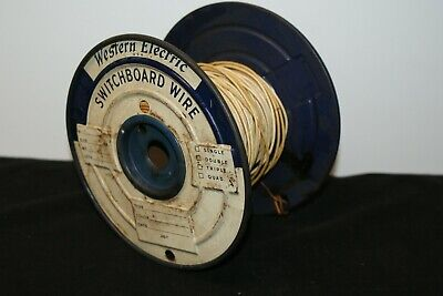 Western Electric USA Switchboard Cloth Wire Spool 1 lb 5 oz Vintage