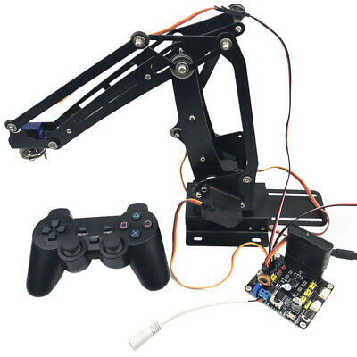 Stainless Steel DIY 4-DOF PS2 Remote Control Robot Arm for Arduino Learning