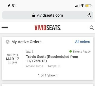 030fe30e5344 TRAVIS SCOTT ASTROWORLD Tickets General Admission March 12 DC ...