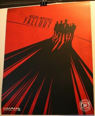 """2018 Mission Impossible Fallout 16 x 20"""" Promo Movie Poster Cinemark"""