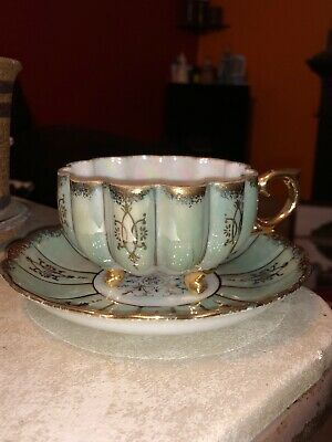 Vintage Royal Sealy China Footed Tea Cup And Saucer Midcentry Japan