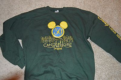DISNEYLAND 50th Anniversary 2005 Candlelight celebration cast sweatshirt Adult L