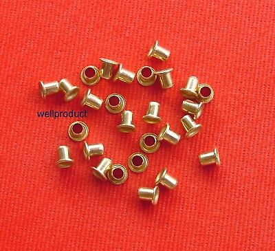 /> 100x Copper Alloy Brass Eyelet 2.5x4.5mm for Soldering Connection-Fe