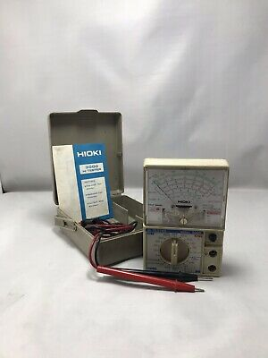 HIOKI 3000 HITESTER Manual-Ranging, Analog Multimeter with case and test  leads