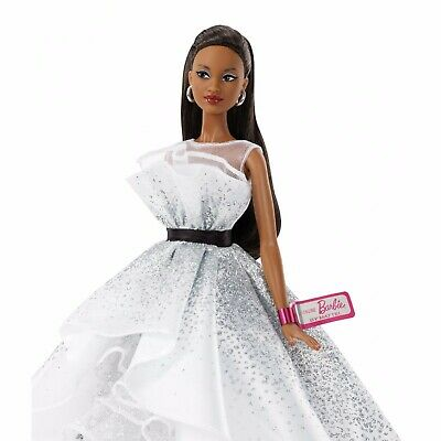 Barbie 60th Anniversary Doll, Brunette Hair & Diamond-Inspired Accents