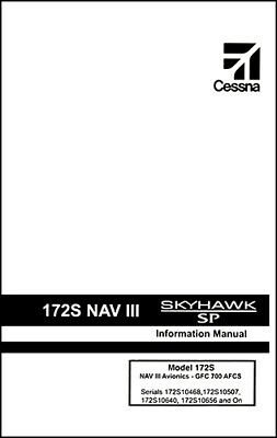 042d77f48f7 Cessna Skyhawk Airplane Information Owner s Manual (POH) - 172S G1000 ...