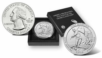 2016 P America the Beautiful 5 Oz Silver Uncirculated Coin Fort Moultrie FSNM