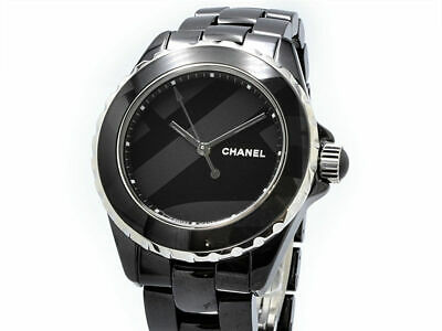 more photos 4bc18 3adc8 FREE SHIPPING PRE-OWNED Chanel J12 Untitled H5581 Divers Watch Limited  Edition