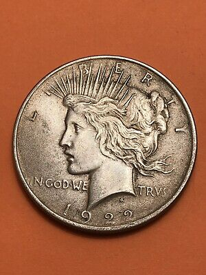 1922 Peace Silver Dollar! VERY FINE+++ Original Coin!!!  Number 520