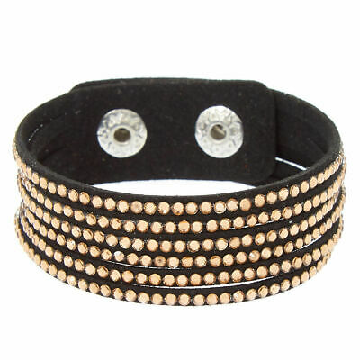 Claire's Girl's Studded Layered Wrap Bracelet - Copper Black/Gold