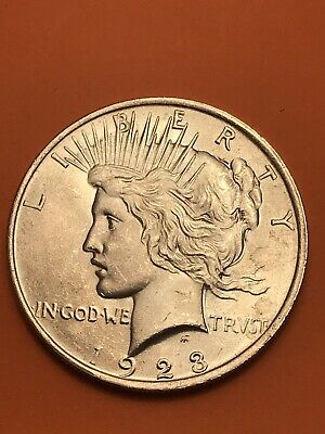 1923 Peace Silver Dollar Brilliant circulated - BC as close to uncirculated  WOW