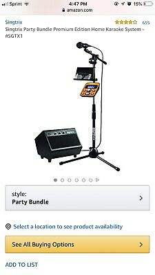 Singtrix Party Bundle Premium Edition Home Karaoke System - SGTX1
