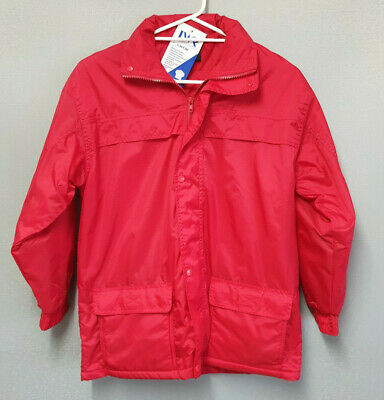 BNWT Boys or Girls Sz 16 LW Reid Waterproof Polar Fleece Lined Red Rain Coat