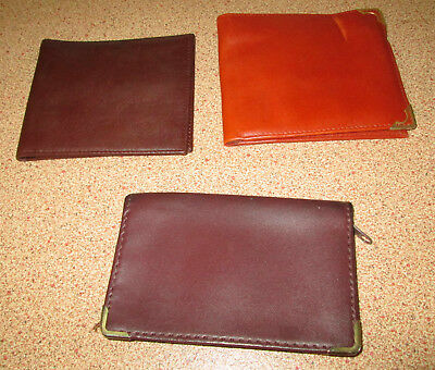 Vintage Mens Leather Wallet Artex Picchioni Brown Tan Licence Holder Zipper