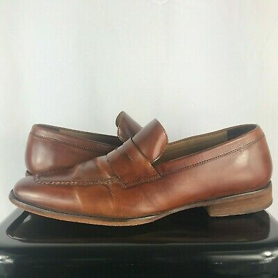a49e90713ed Cole Haan C07199 Men Sz 10 M Brown Leather Penny Loafer Slip   On Formal  Shoes