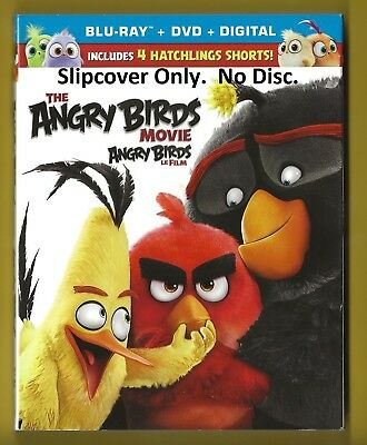 The Angry Birds Movie SLIPCOVER ONLY fits blu-ray case (No Disc)