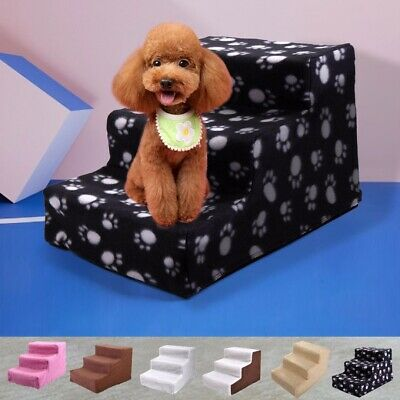 Details about Pet Dog Ladder 3 Steps Soft Stairs Puppy Washable Cover