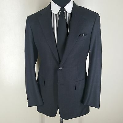 CHESTER BARRIE Savile Row Gray Blazer 2 Btn Side Vents 100% Pure Wool 40 Long