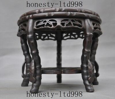 Collect Chinese Rosewood Wood carved ancient Chair Chairs Footstool Stool Statue