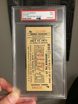 1977 Led Zeppelin Concert Ticket (PICK ONE) Seattle Washington PSA