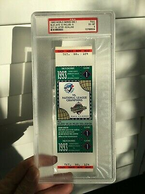 1993 World Series Tickets Game 1 2 3 4 6 (PICK ONE) Toronto Philadelphia Carter
