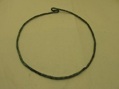 9th to 11th Century ad Viking Twisted Bronze Torque