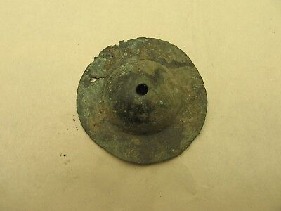 9th to 11th Century ad Viking Bronze Ear Spool with Traces of Gold
