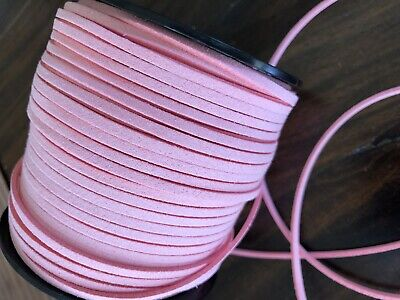 5 metres Faux Suede Leather Cord 3 mm Jewellery Braiding Craft Pink Purple