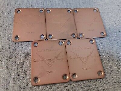 Custom Guitar neck plate for fender strat or telecaster COPPER