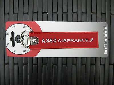 AIRFRANCE Airbus A380 tag REMOVE BEFORE FLIGHT Pilot Crew keyring keychain