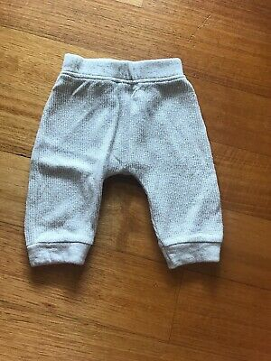 Country Road Baby Pants Trackies Size 0 6-12 Months Cream Hole