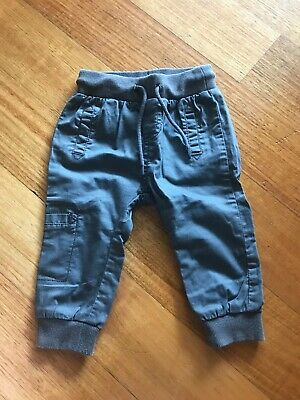 Country Road Baby Pants Size 0 Grey Chino Cargo 6-12 Months Unisex