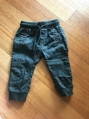 Country Road Baby Pants Green Chino Size 0 6-12 Months Khaki Cargo