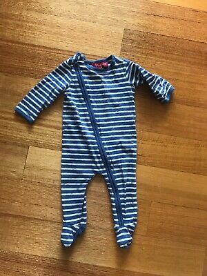 Sprout Myer Baby Jumpsuit Bodysuit Unisex Blue Size 00 Pre Loved 3-6 Months