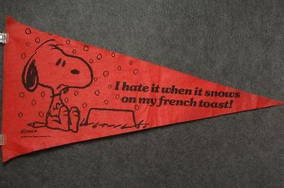 "Snoopy Wincraft Pennant Happy Snoopy Dancing 10/"" long"