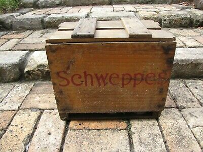 Collectable Vintage Schweppes Soda Syphon Bottle x 5 -Box 1968  with lid