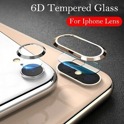 Camera Lens Soft Tempered Glass Back Lens Film Metal Protection Ring For Apple