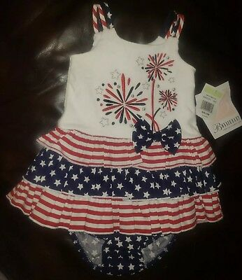 412df5344 NWT GYMBOREE GIRL'S 0-3 mos Sailor Dress w Bloomers July 4 Red White ...