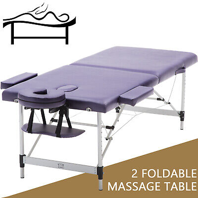🔮Spa Massage Table 2 Fold 75cm Portable Aluminium Bed Beauty Therapy Waxing