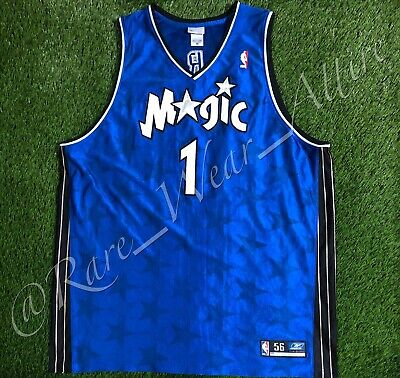 5b622f80 NBA JERSEY ORLANDO MAGIC TRACY McGRADY REEBOK AUTHENTIC SZ 56 VTG RARE AWAY  BLUE