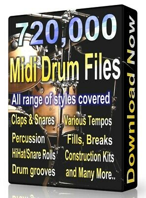 716,000 Drum Midi Pack Collection 2019 Logic, FL Studio, Reason, Ableton Cubase